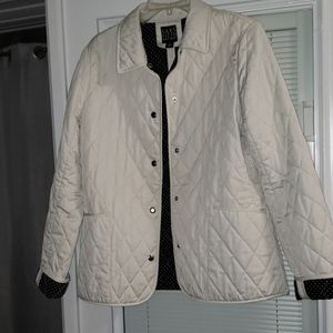 Saks Fifth Avenue quilted peacoat jacket